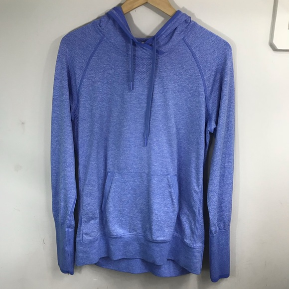 Lucy Tops - LUCY | Heather Blue Hoodie M